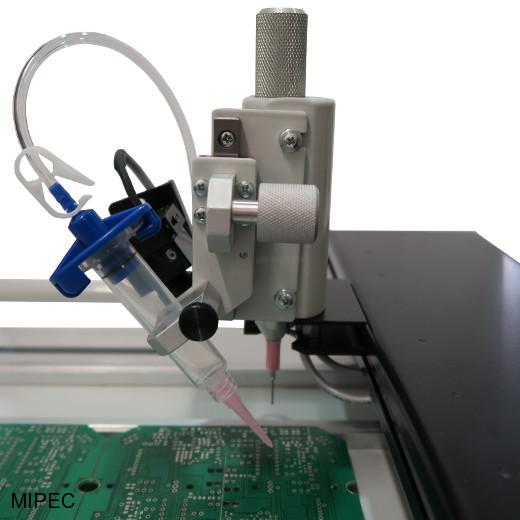 Dispensing head for SMD manipulator